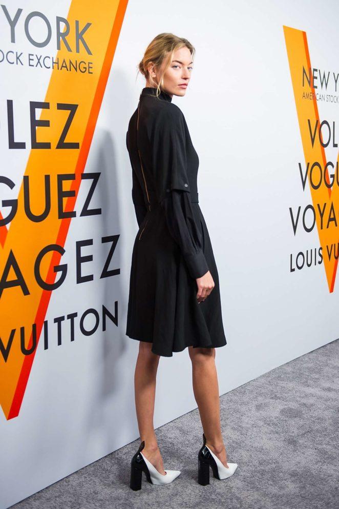 Martha Hunt: Louis Vuitton Volez, Voguez, Voyagez Exhibition Opening -18