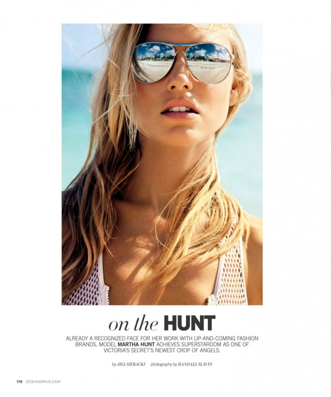 Martha Hunt: Ocean Drive Magazine 2015 -06