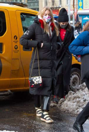Martha Hunt - Seen  after a photo shoot in New York City
