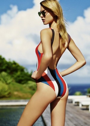 Martha Hunt - Solid & Striped Swimsuits 2015 Campaign
