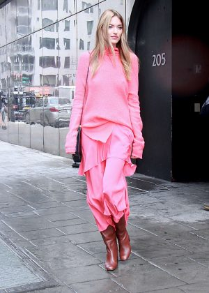 Martha Hunt - Visits Good Morning America in NYC