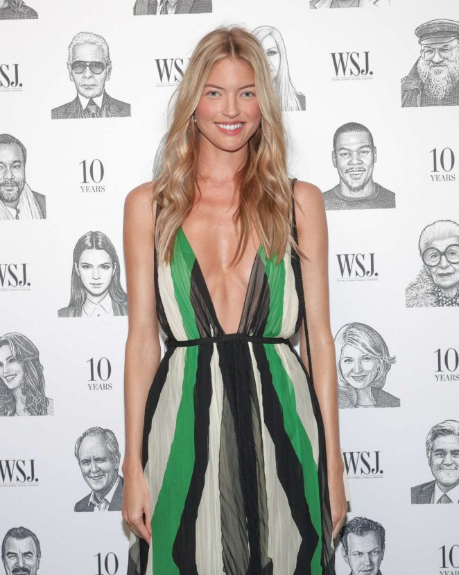 Martha Hunt - WSJ Magazine's 10th Anniversary Party in New York