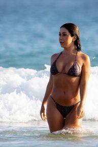 Martha Kalifatidis in Bikini with her boyfriend Michael Brunelli at Bondi Beach