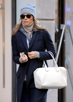 Martina Colombari out and about in Milan