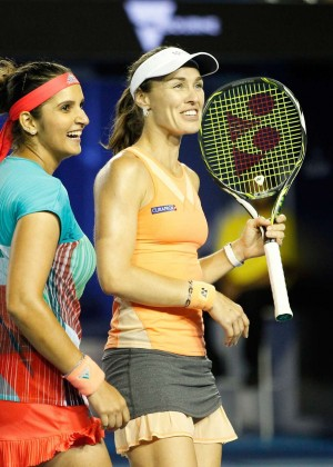 Martina Hingis and Sania Mirza - 2016 Australian Open Championships in Melbourne