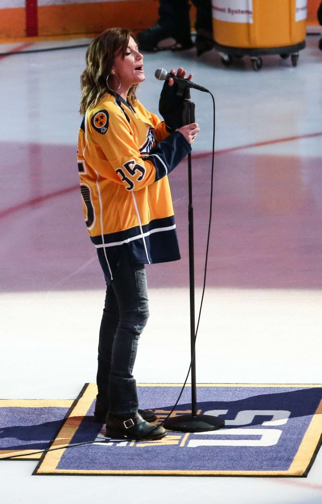 Martina McBride at 2017 NHL Stanley Cup Final in Nashville