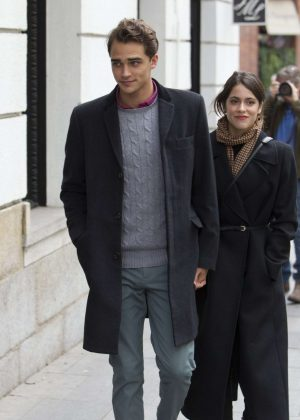 Martina Stoessel and Pepe Barroso Jr Out in Madrid