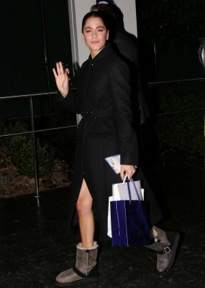 Martina Stoessel - Leaving Mandarin Oriental Hotel in Pars