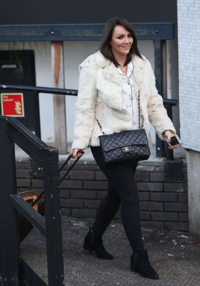Martine McCutcheon - Leaving the Loose Women Show in London