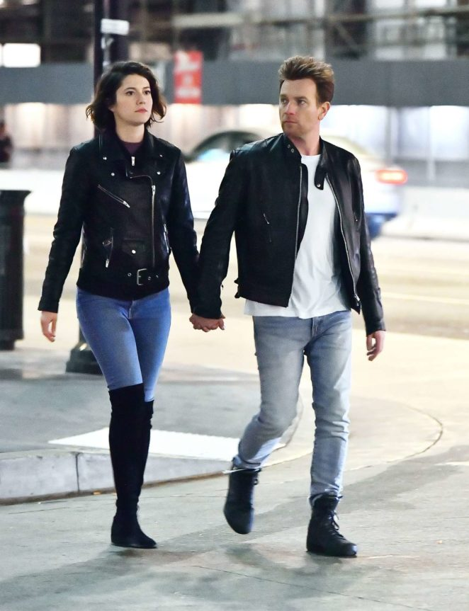 Mary Elizabeth Winstead and Ewan McGregor out in Hollywood