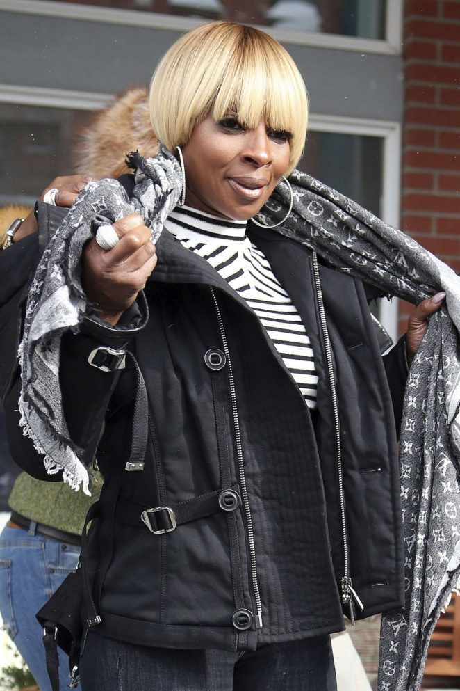 Mary J. Blige out at 2017 Sundance Film Festival in Utah