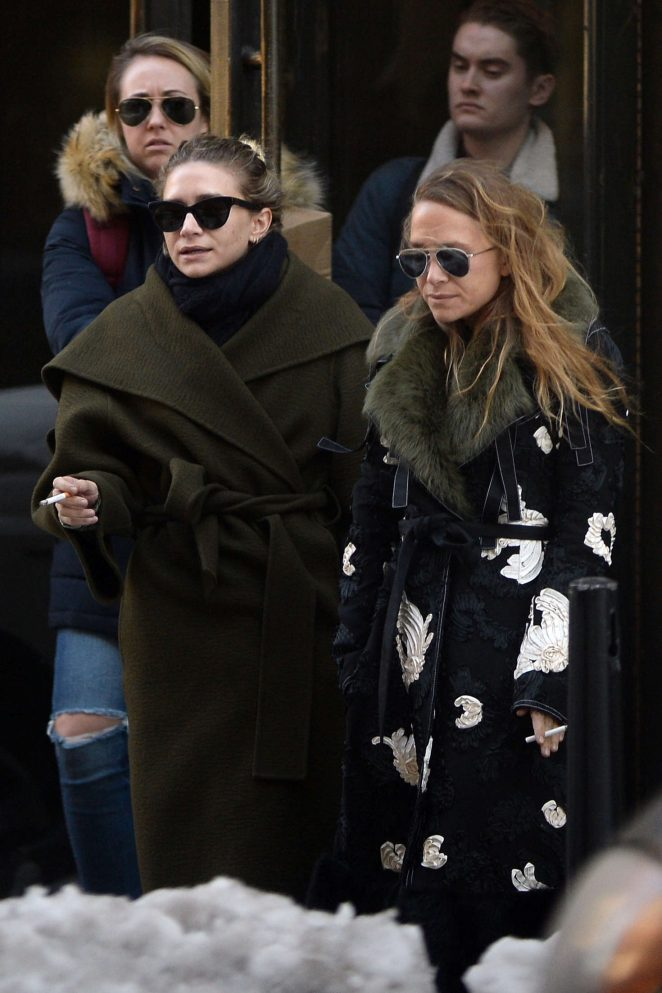 Mary-Kate and Ashley Olsen out in New York City