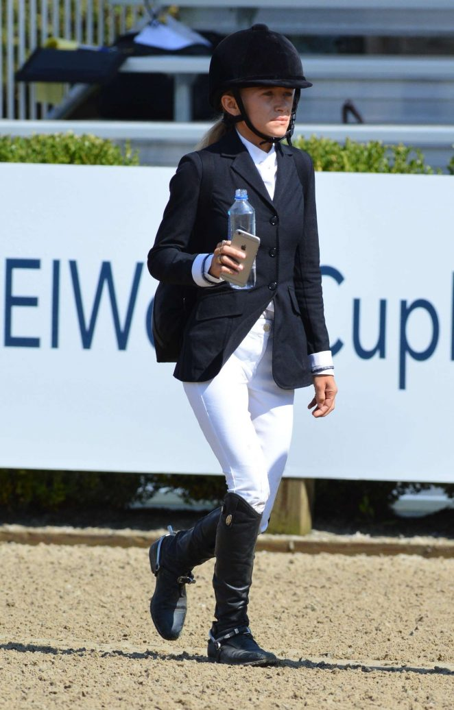 Mary-Kate Olsen Competes at The American Gold Cup in New York