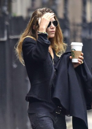 Mary Kate Olsen out for coffee in New York City