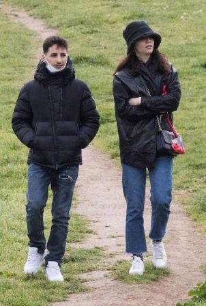 Matilda De Angelis - Seen with her boyfriend William Mezzanotte aka Nayt at the park in Rome