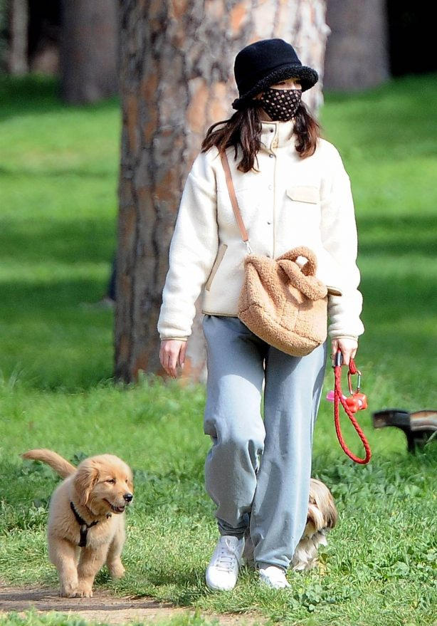 Matilda De Angelis - Spotted with her pooch out for walk out in Rome