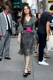 Maude Apatow - Arrives at 'The Late Show With Stephen Colbert' in New York