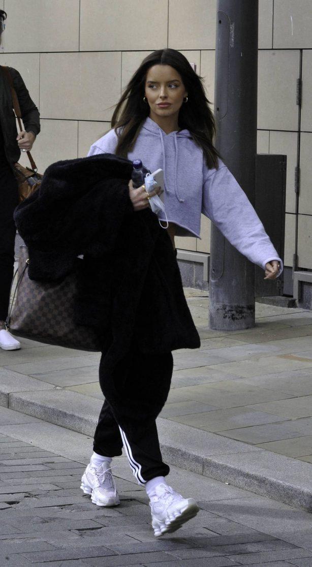 Maura Higgins - Leaving filming studios in Manchester