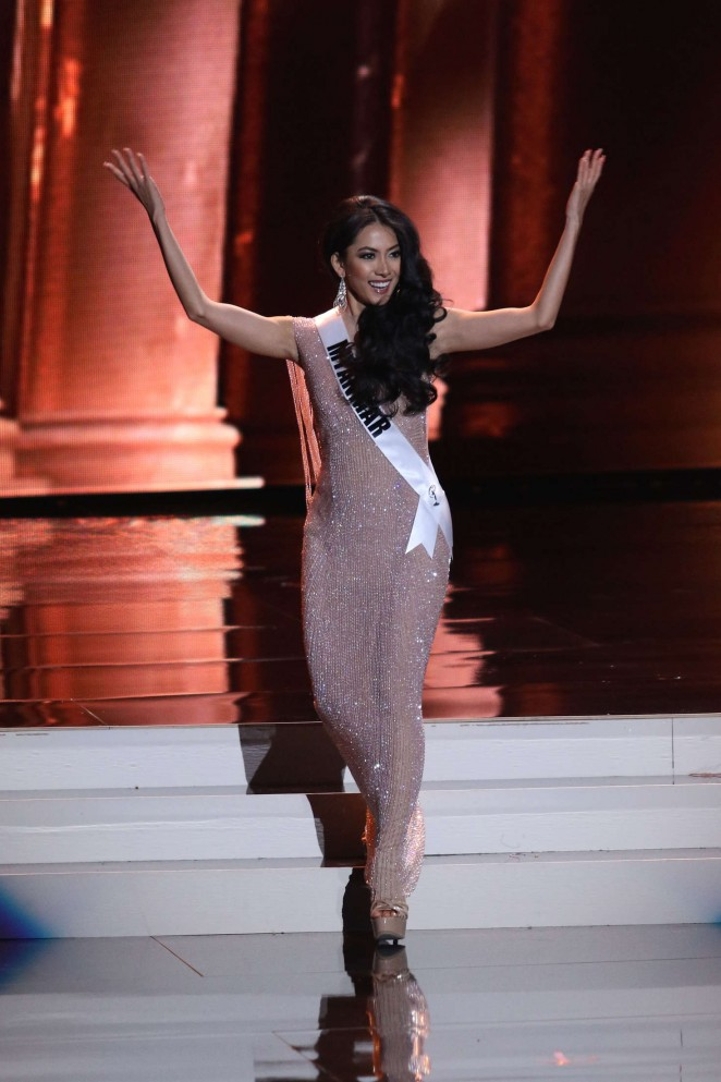 May Thaw - Miss Universe 2015 Preliminary Round in Las Vegas