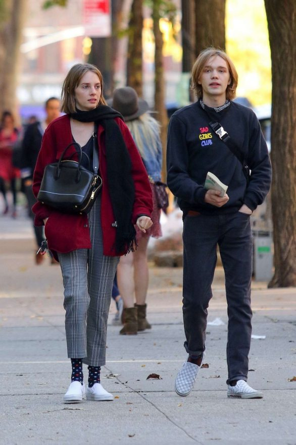 Maya Hawke and Charlie Plummer - Out after lunch in Manhattan