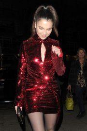 Maya Henry - Arrives at Vas J Morgans Birthday Party in London