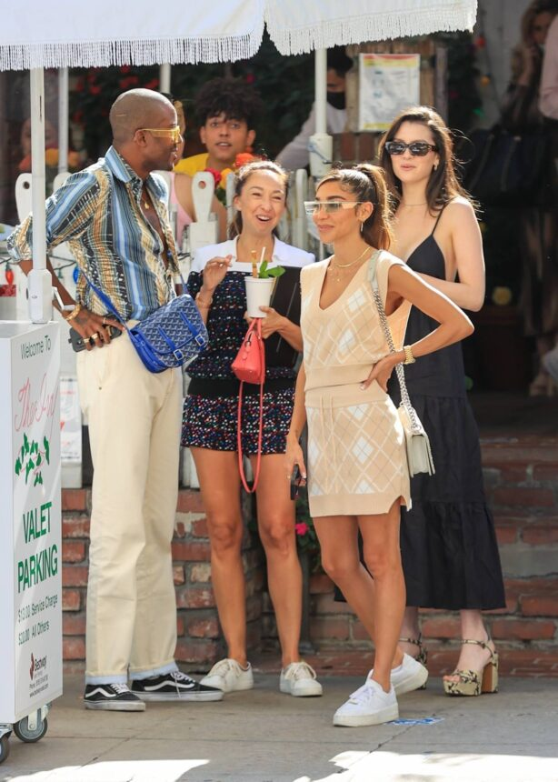 Maya Henry - Seen with Chantel Jeffries at The Ivy