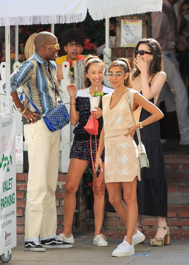 Maya Henry - with Chantel Jeffries and Vas J Morgan at The Ivy in West Hollywood