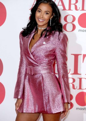 Maya Jama - 2018 Brit Awards in London