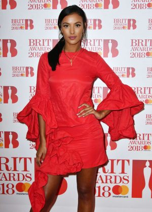 Maya Jama - 2018 BRIT Awards Nominations Launch Party in London
