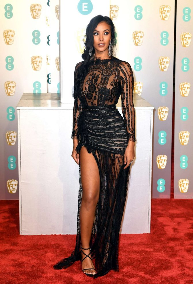 Maya Jama - 2019 British Academy Film Awards in London