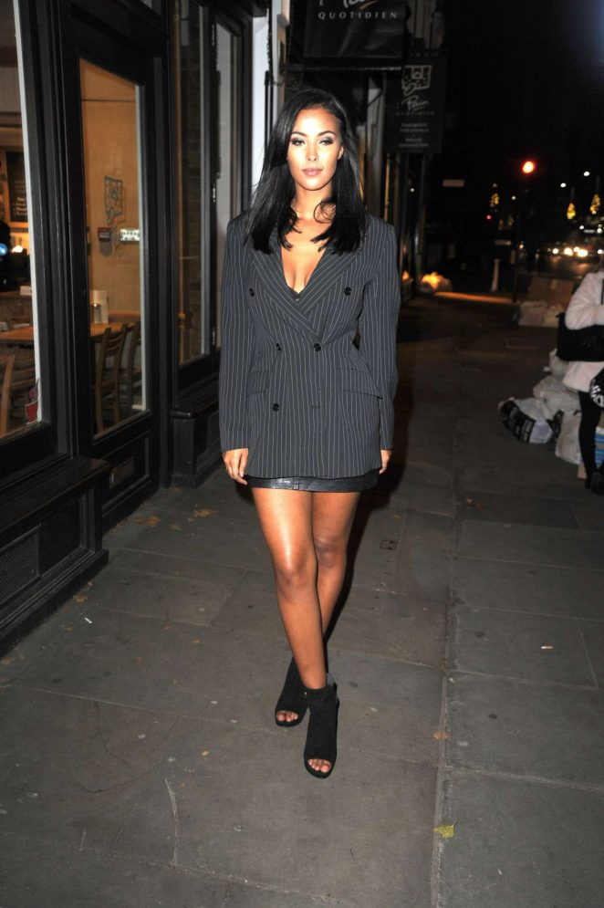 Maya Jama - Adidas Private Dinner in London