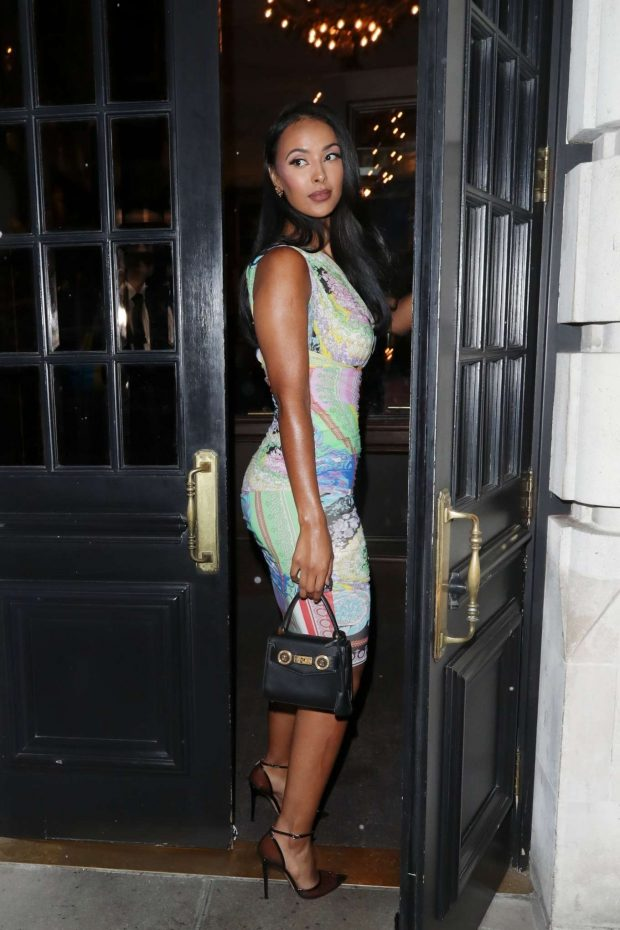 Maya Jama 2019 : Maya Jama: Arrives at Berners Tavern-21