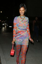 Maya Jama - Arrives at LFW Love Magazine and Youtube Party in London