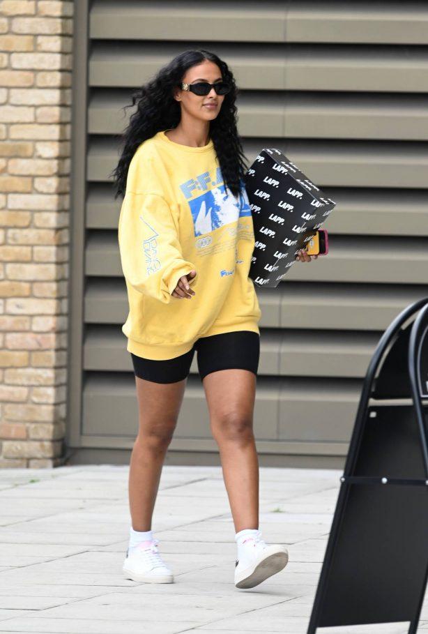 Maya Jama - Arriving to a London TV Studios