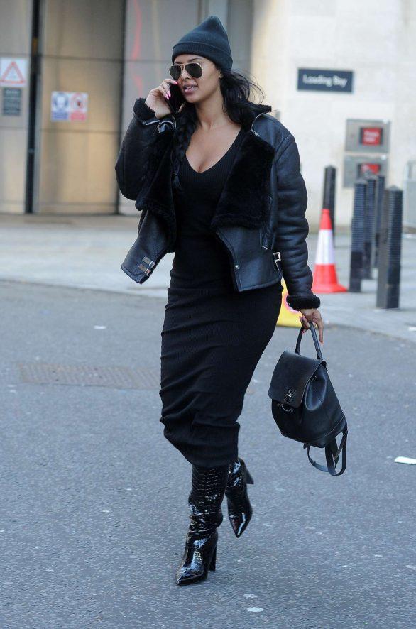 Maya Jama - Leaving BBC Radio One Studios in London