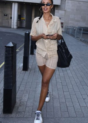 Maya Jama - Leaving Radio 1 Studio in London