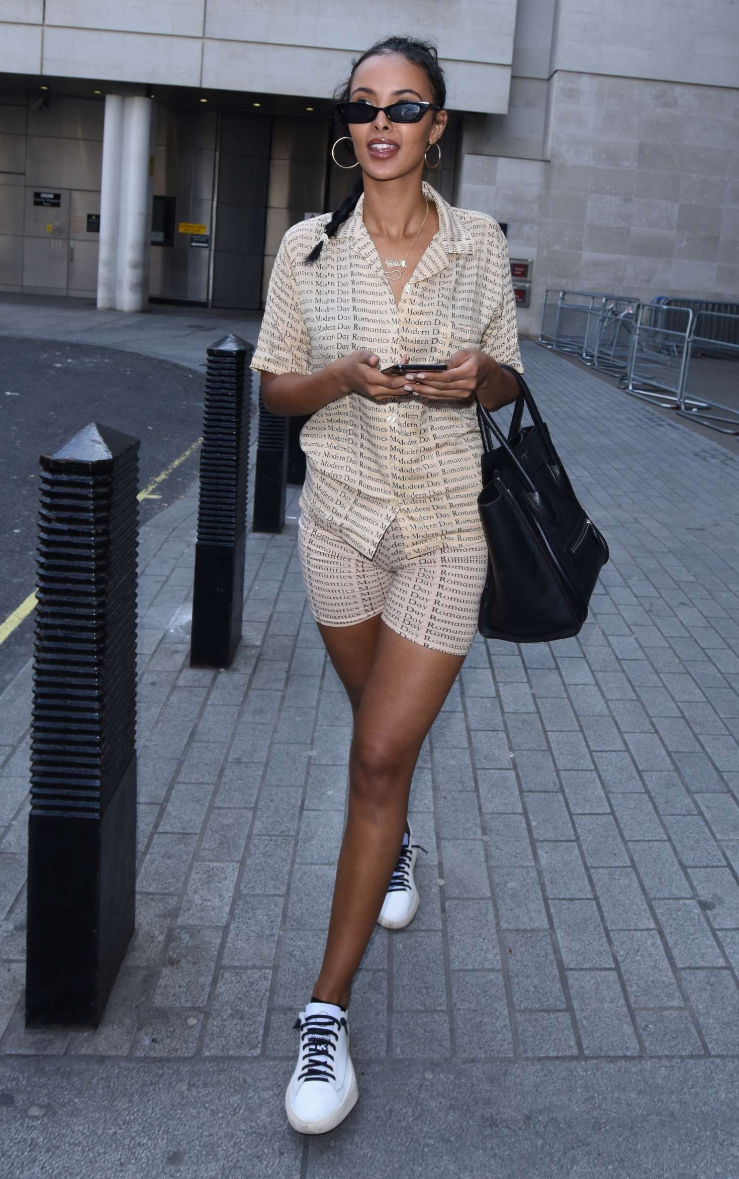 Maya Jama - Leaving Radio 1 Studio in London