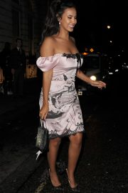 Maya Jama - Leaving the Edition Hotel in Soho