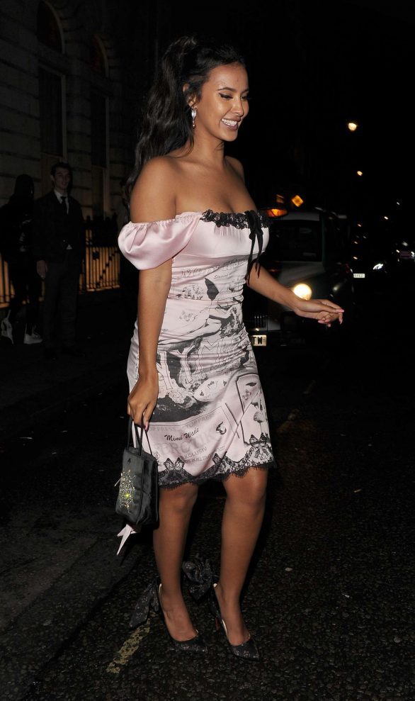 Maya Jama - Leaving the Edition Hotel in Soho