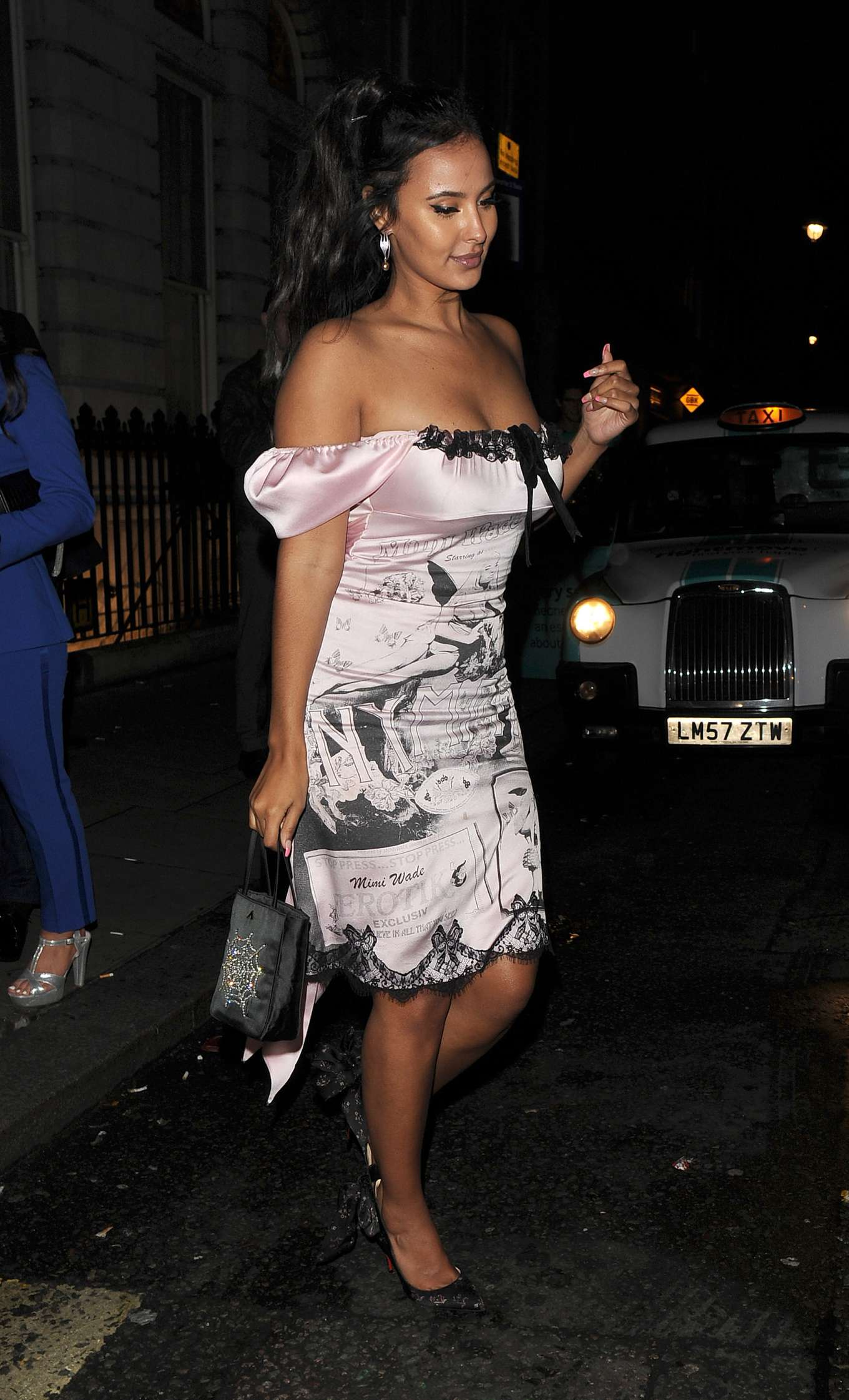 Maya Jama 2020 : Maya Jama – Leaving the Edition Hotel in Soho-11
