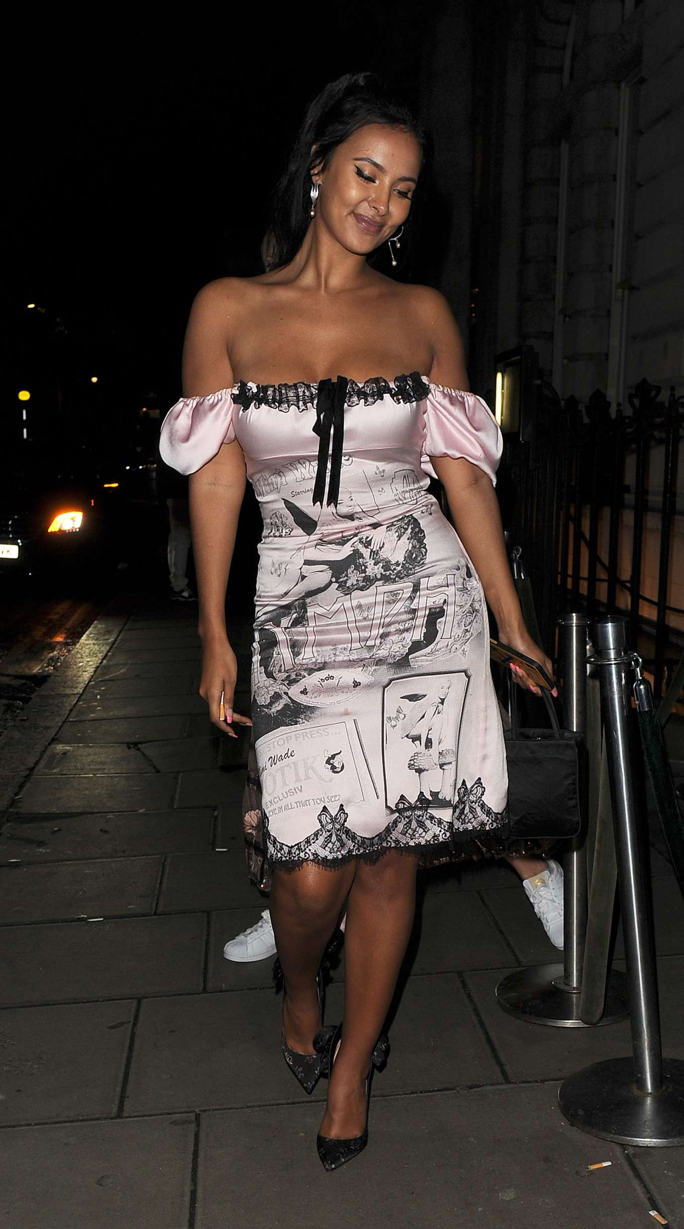 Maya Jama 2020 : Maya Jama – Leaving the Edition Hotel in Soho-12