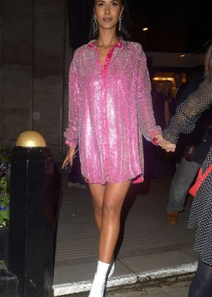 Maya Jama - Leaving the RTS Awards 2019 in London
