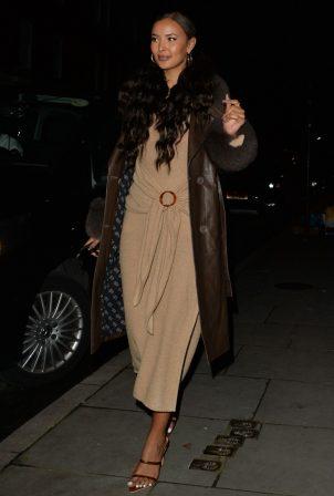 Maya Jama - Night out in London