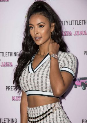 Maya Jama - PrettyLittleThing x Maya Jama Launch party in London