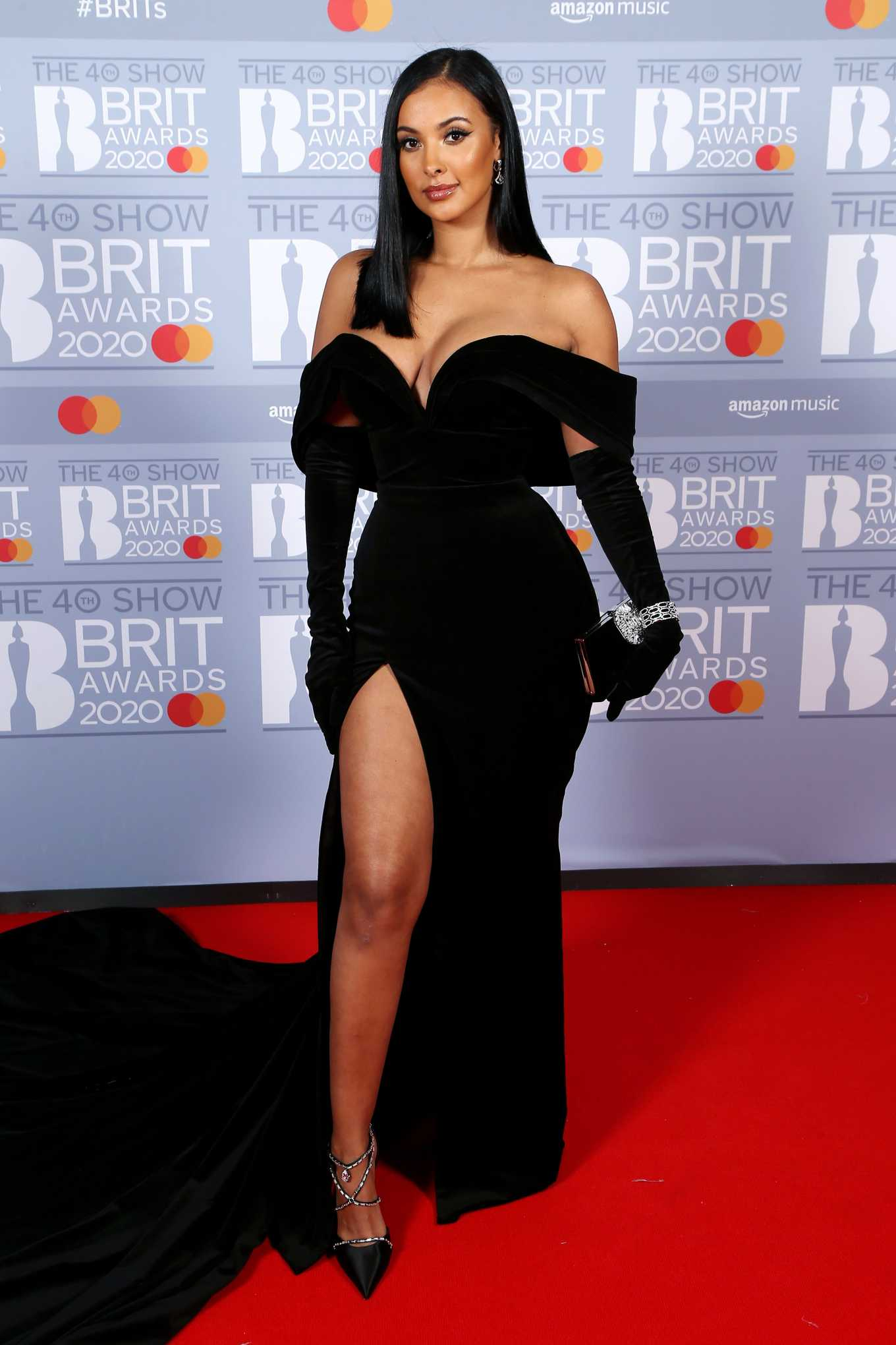 Maya Jama 2020 : Maya Jama – The BRIT Awards 2020 in London-02