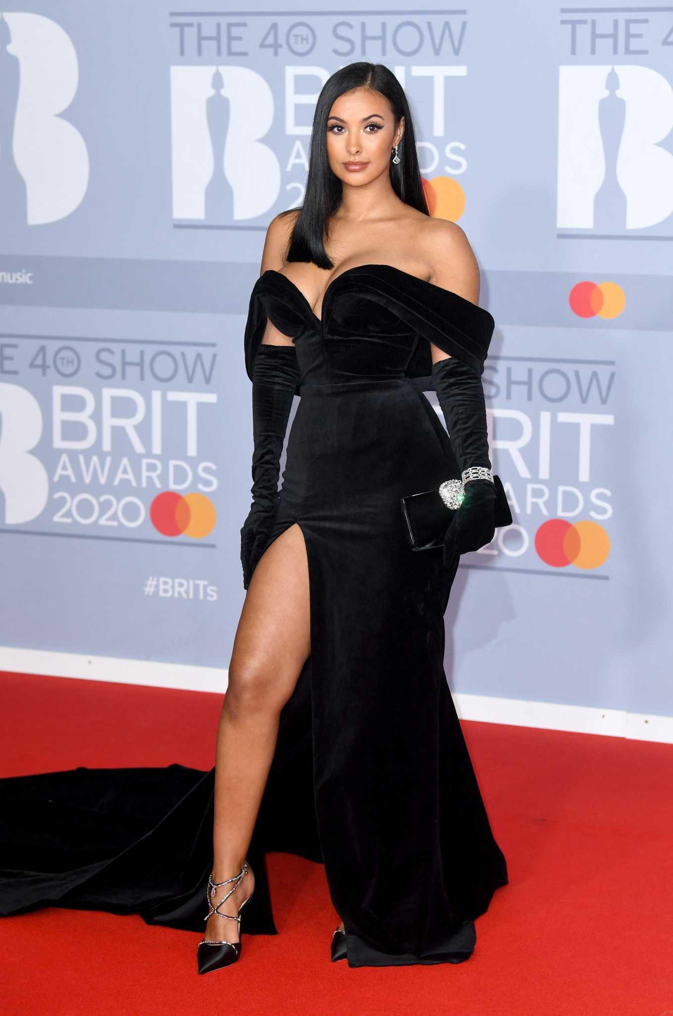 Maya Jama 2020 : Maya Jama – The BRIT Awards 2020 in London-03