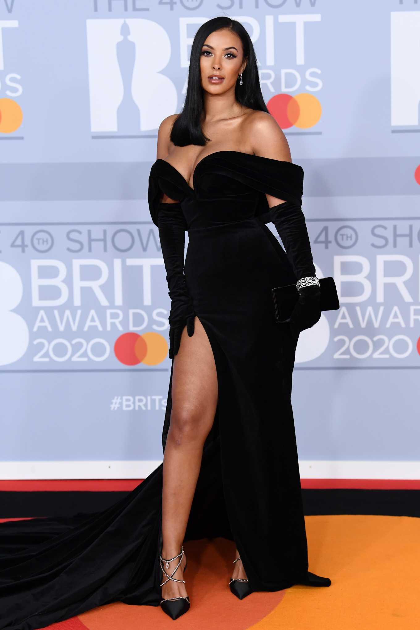 Maya Jama 2020 : Maya Jama – The BRIT Awards 2020 in London-09