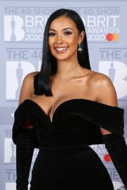 Maya Jama - The BRIT Awards 2020 in London