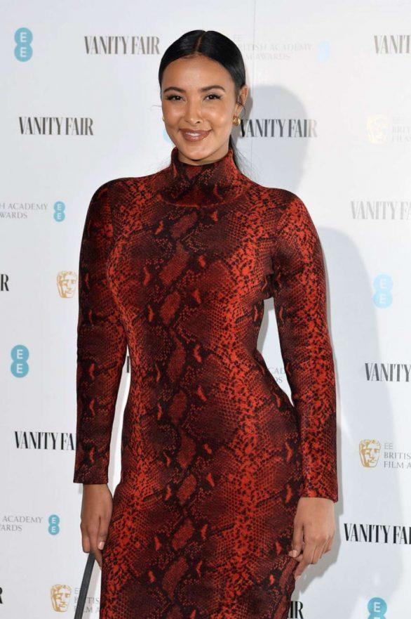 Maya Jama - Vanity Fair EE Rising Star BAFTAs Pre Party in London