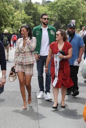 Maya Jama - With Kendall Jenner's ex boyfriend Ben Simmons attend Wimbledon